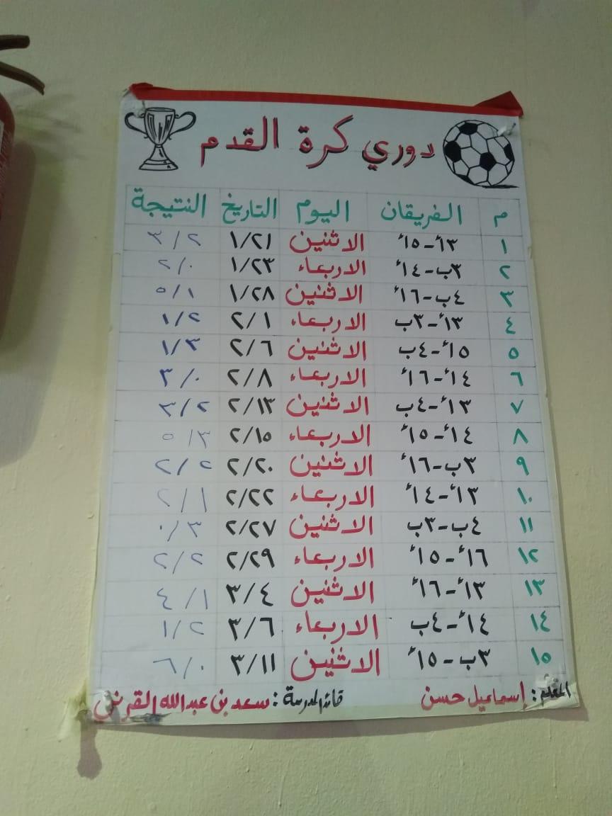 مسابقة الدوري المدرسي لكرة القدم