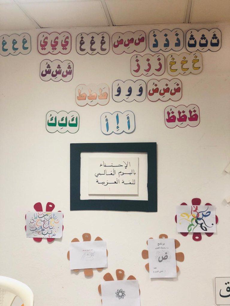 اليوم العالمي للغة العربية في ابتدائية النخبة الاهلية